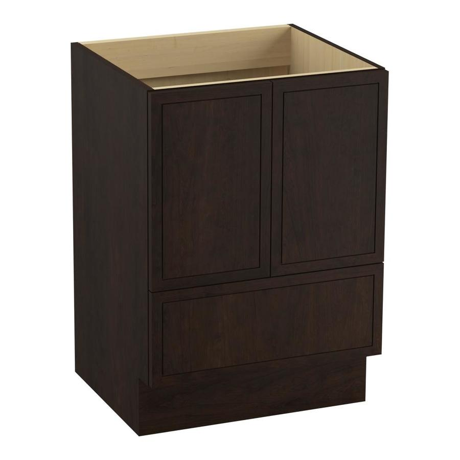 KOHLER Jacquard Claret Suede (Common: 24-in x 22-in) Traditional Bathroom Vanity (Actual: 24-in x 21.875-in)