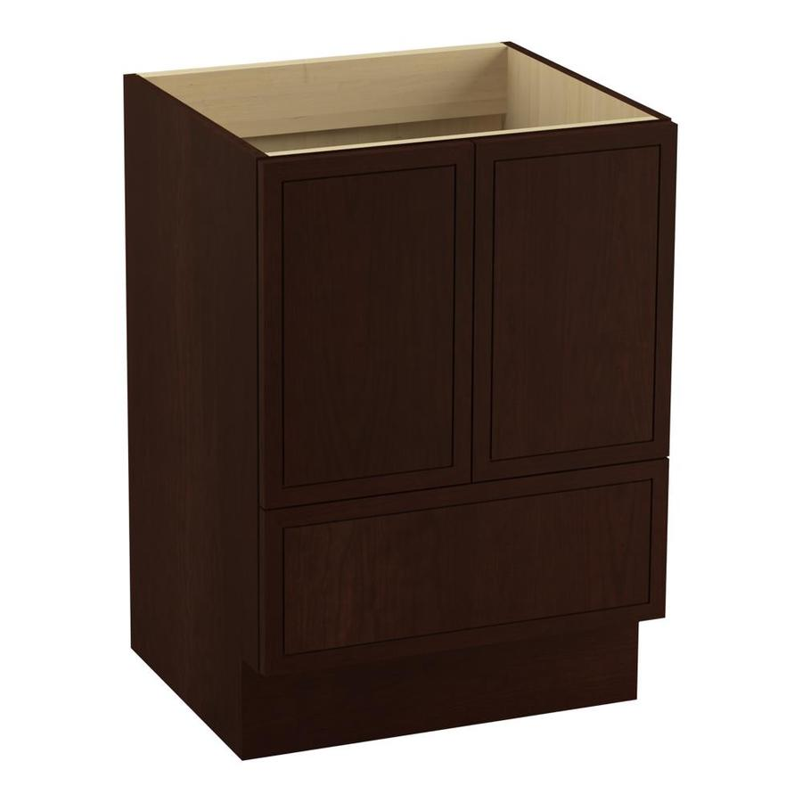 KOHLER Jacquard Cherry Tweed (Common: 24-in x 22-in) Traditional Bathroom Vanity (Actual: 24-in x 21.875-in)