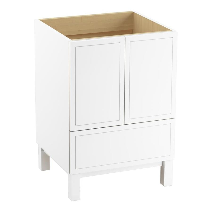 KOHLER Jacquard Linen White 24-in Traditional Bathroom Vanity