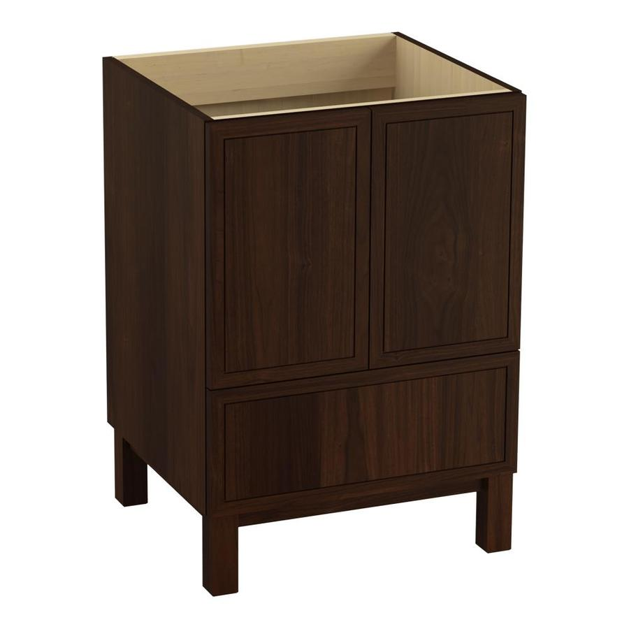 KOHLER Jacquard Ramie Walnut 24-in Traditional Bathroom Vanity