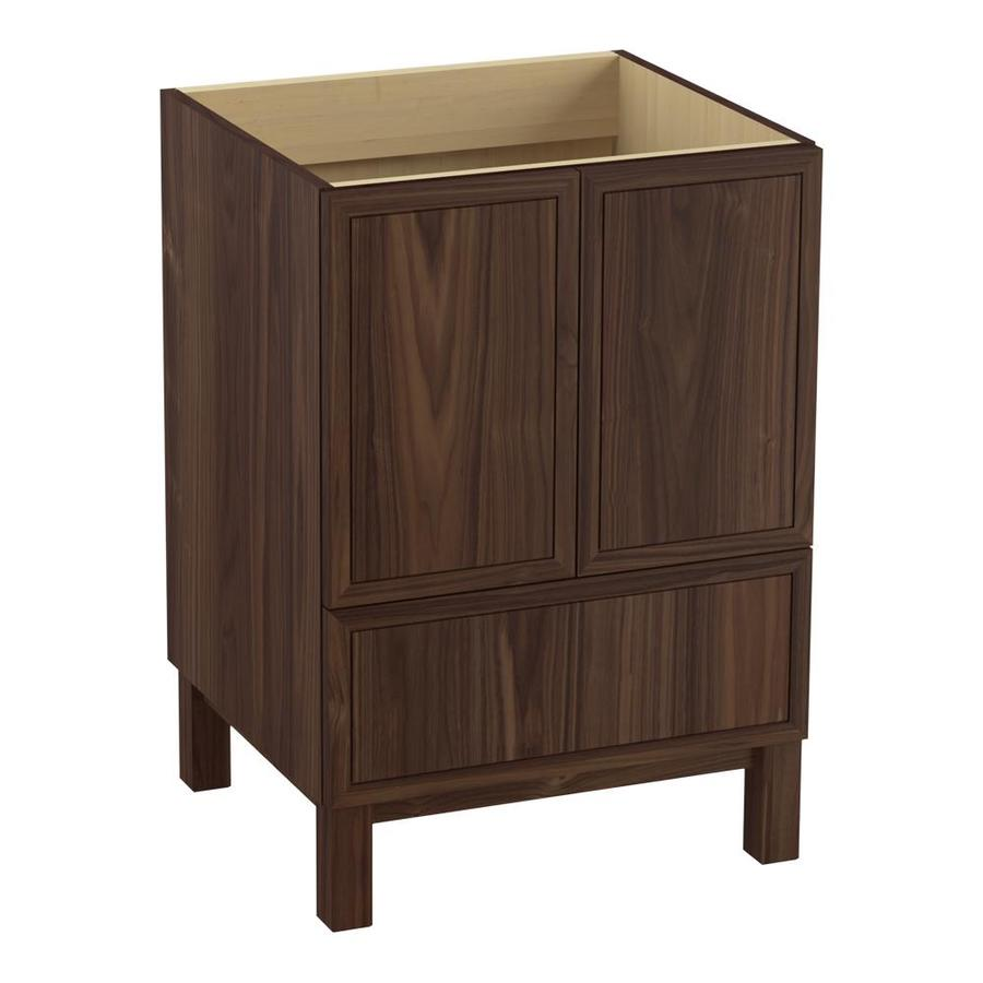KOHLER Jacquard Terry Walnut Bathroom Vanity (Common: 24-in x 22-in; Actual: 24-in x 21.87-in)