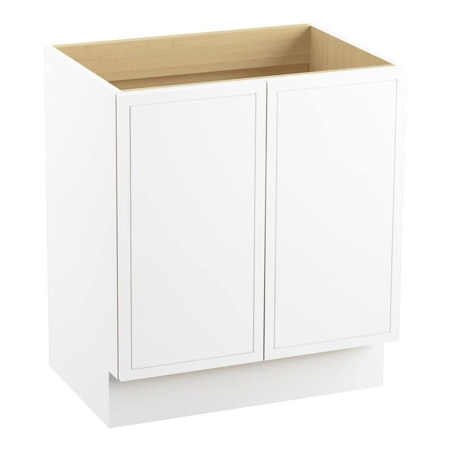 KOHLER Jacquard 30-in Linen White Traditional Bathroom Vanity