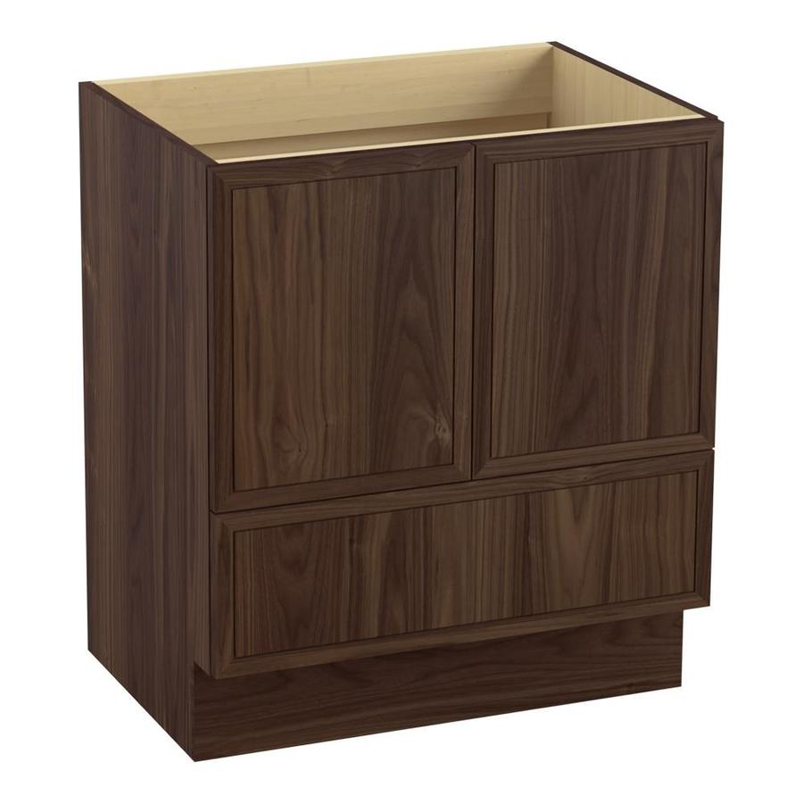KOHLER Jacquard 30-in Terry Walnut Traditional Bathroom Vanity