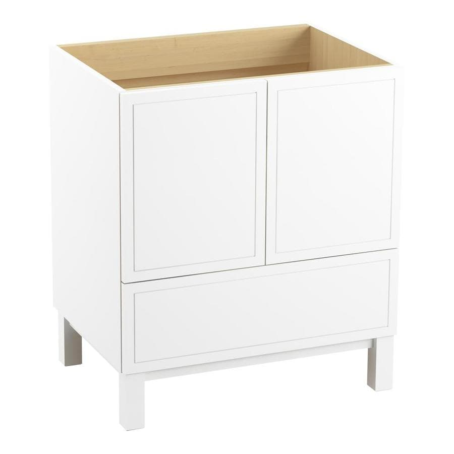 KOHLER Jacquard Linen White (Common: 30-in x 22-in) Traditional Bathroom Vanity (Actual: 30-in x 21.875-in)