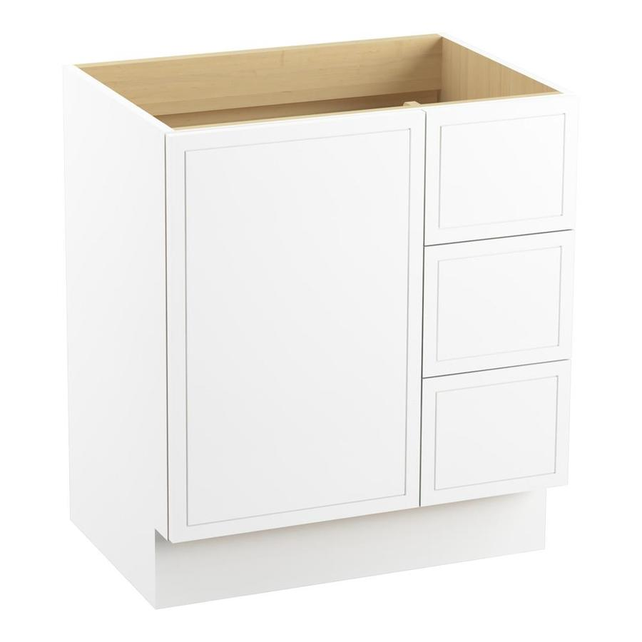 KOHLER Jacquard Linen White Bathroom Vanity (Common: 30-in x 22-in; Actual: 30-in x 21.87-in)