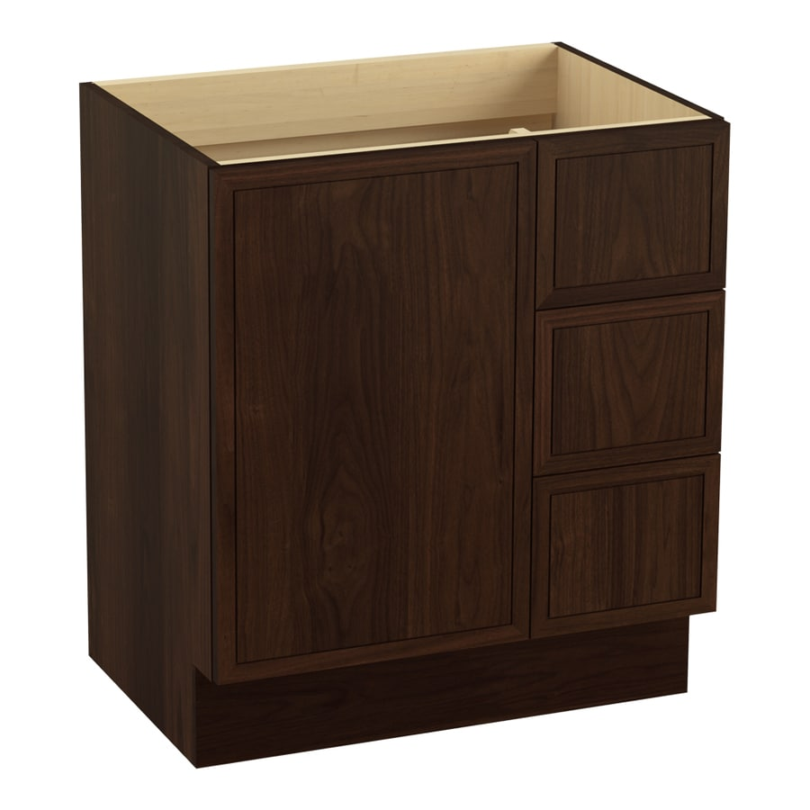 KOHLER Jacquard Ramie Walnut (Common: 30-in x 22-in) Traditional Bathroom Vanity (Actual: 30-in x 21.875-in)