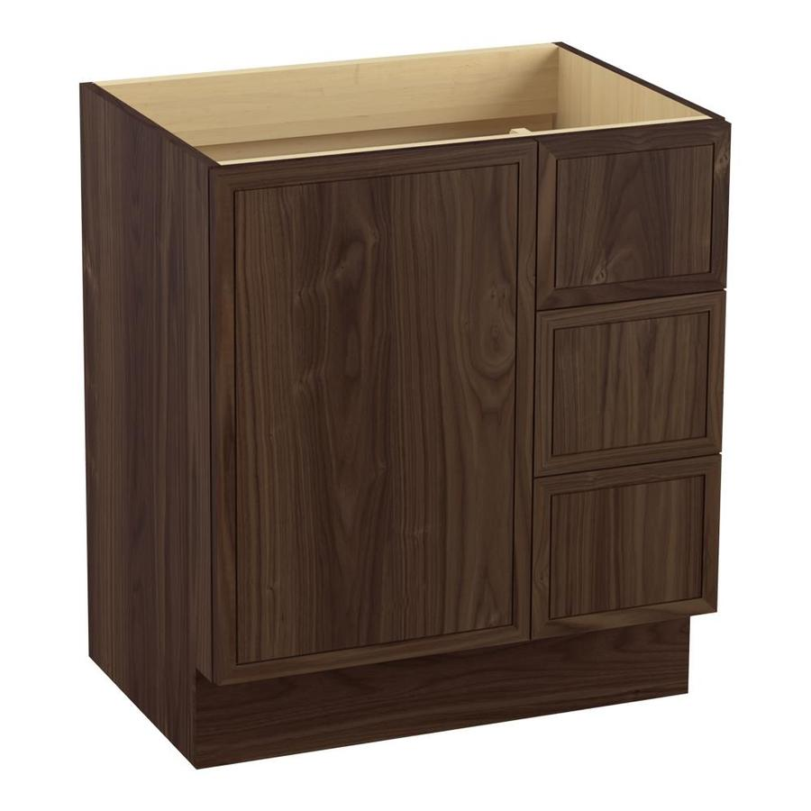 KOHLER Jacquard Terry Walnut 30-in Traditional Bathroom Vanity