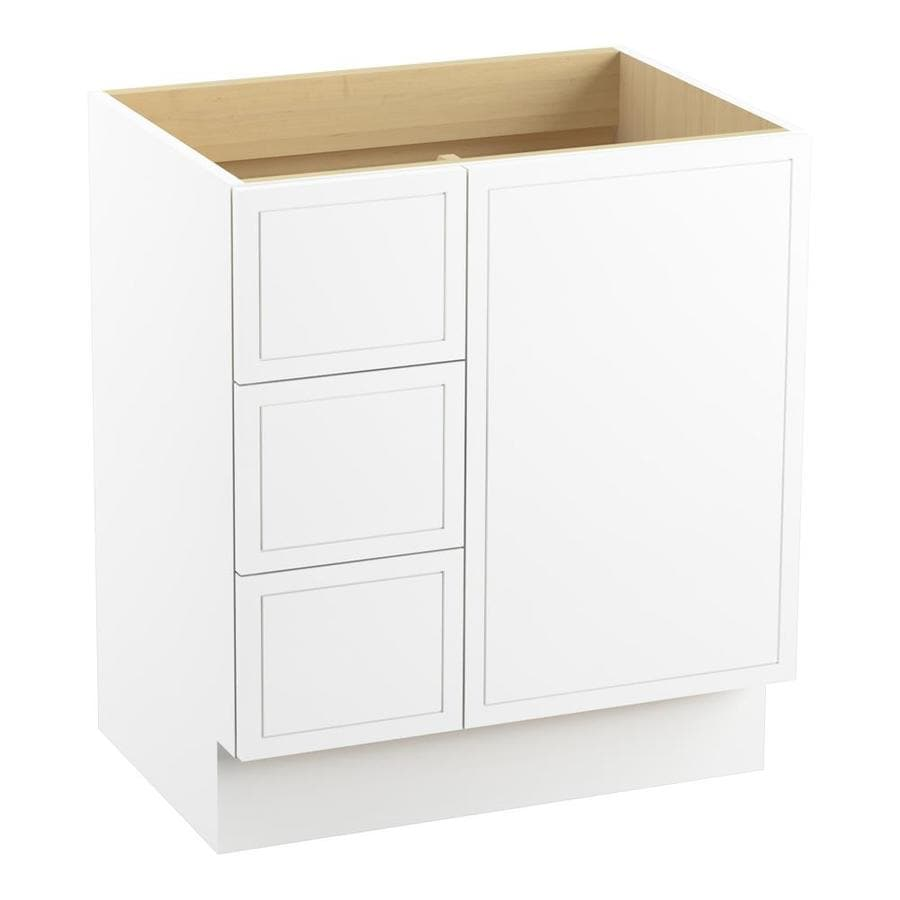 KOHLER Jacquard Linen White (Common: 30-in x 22-in) Traditional Bathroom Vanity (Actual: 30-in x 21.875-in)