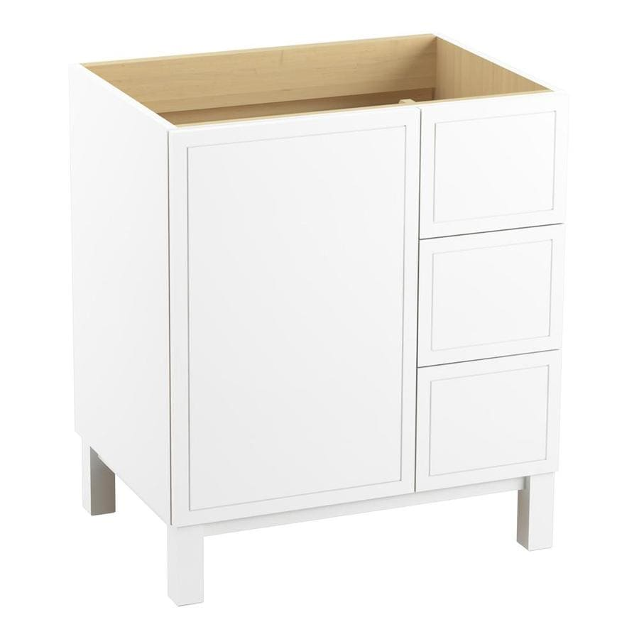KOHLER Jacquard Linen White 30-in Traditional Bathroom Vanity