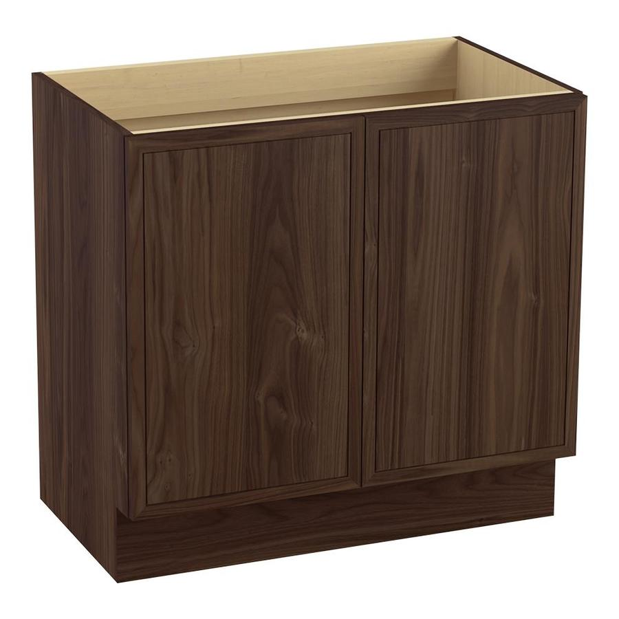 KOHLER Jacquard Terry Walnut (Common: 36-in x 22-in) Traditional Bathroom Vanity (Actual: 36-in x 21.875-in)