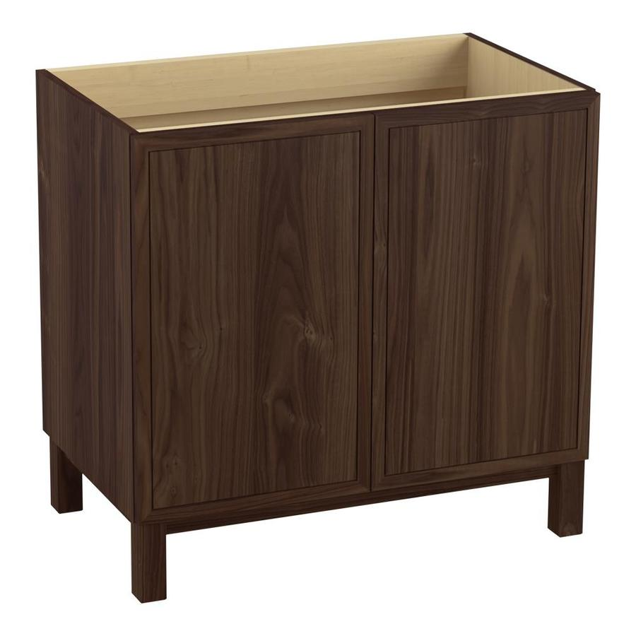 KOHLER Jacquard 36-in Terry Walnut Traditional Bathroom Vanity