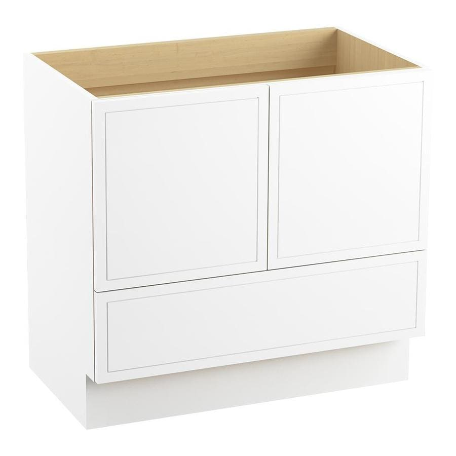 KOHLER Jacquard Linen White Bathroom Vanity (Common: 36-in x 22-in; Actual: 36-in x 21.87-in)