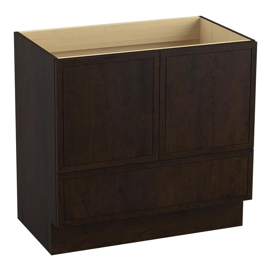 KOHLER Jacquard Claret Suede Bathroom Vanity (Common: 36-in x 22-in; Actual: 36-in x 21.87-in)