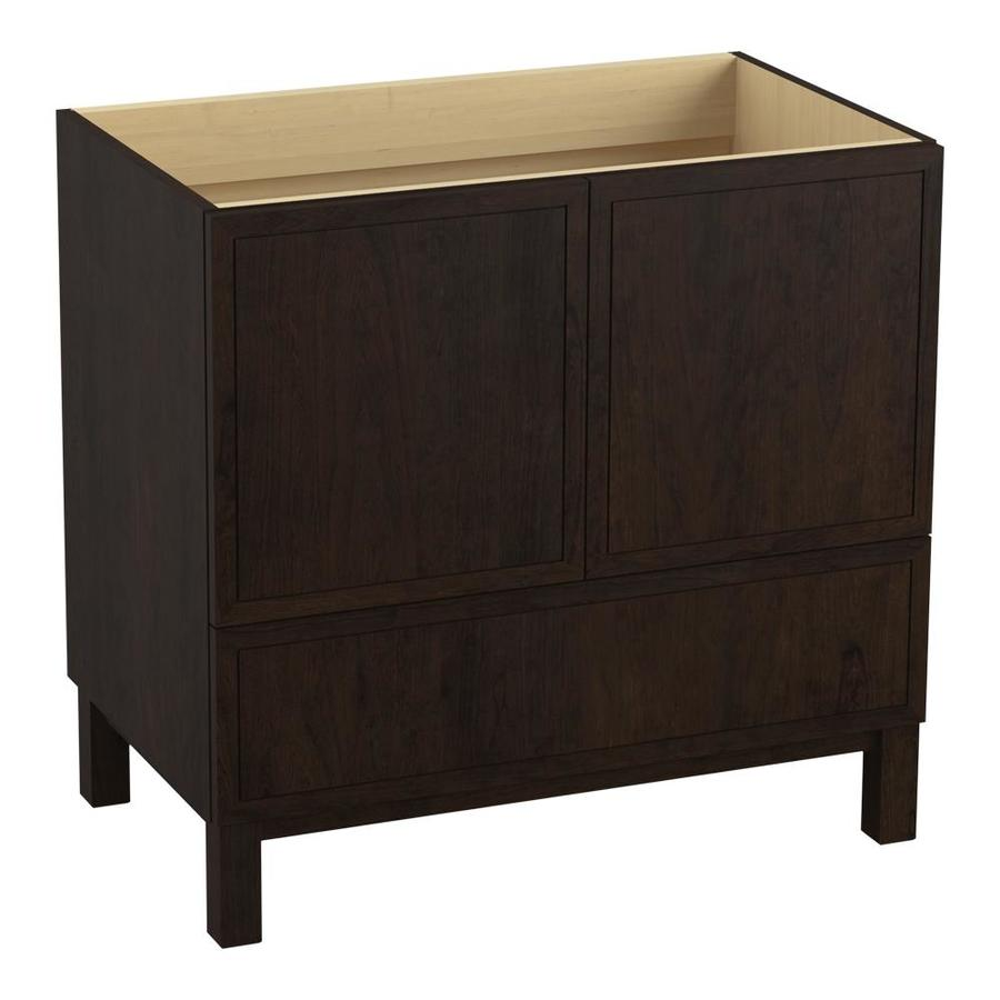 KOHLER Jacquard Claret Suede (Common: 36-in x 22-in) Traditional Bathroom Vanity (Actual: 36-in x 21.875-in)