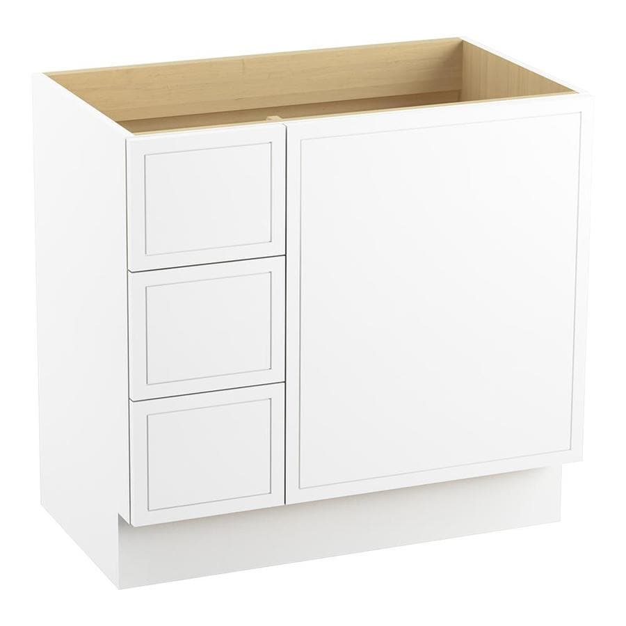 KOHLER Jacquard Linen White 36-in Traditional Bathroom Vanity
