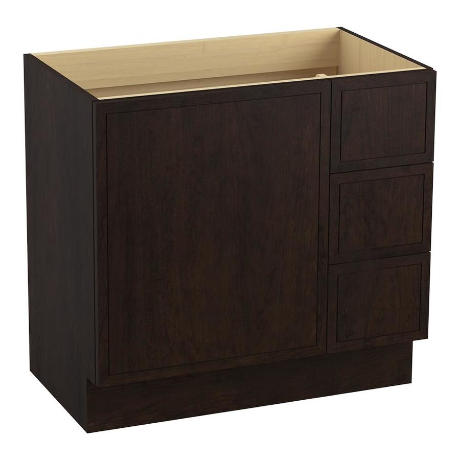 KOHLER Jacquard 36.0000-in Claret Suede Traditional Bathroom Vanity
