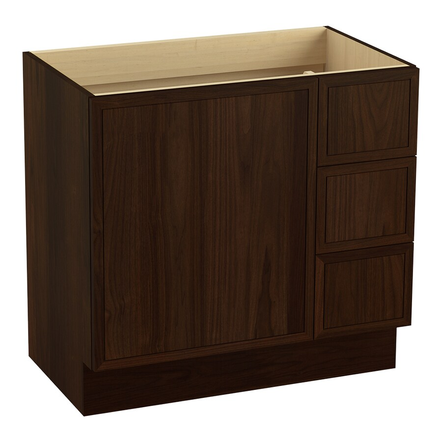 KOHLER Jacquard Ramie Walnut Bathroom Vanity (Common: 36-in x 22-in; Actual: 36-in x 21.87-in)