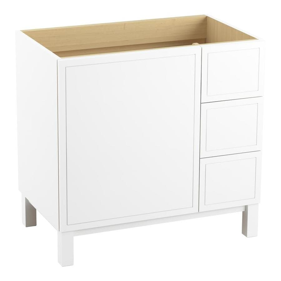 KOHLER Jacquard Linen White (Common: 36-in x 22-in) Traditional Bathroom Vanity (Actual: 36-in x 21.875-in)