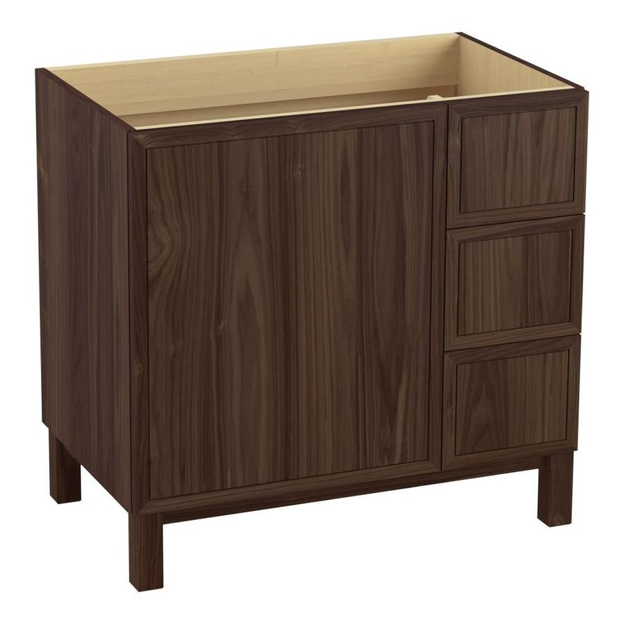 KOHLER Jacquard Terry Walnut Bathroom Vanity (Common: 36-in x 22-in; Actual: 36-in x 21.87-in)