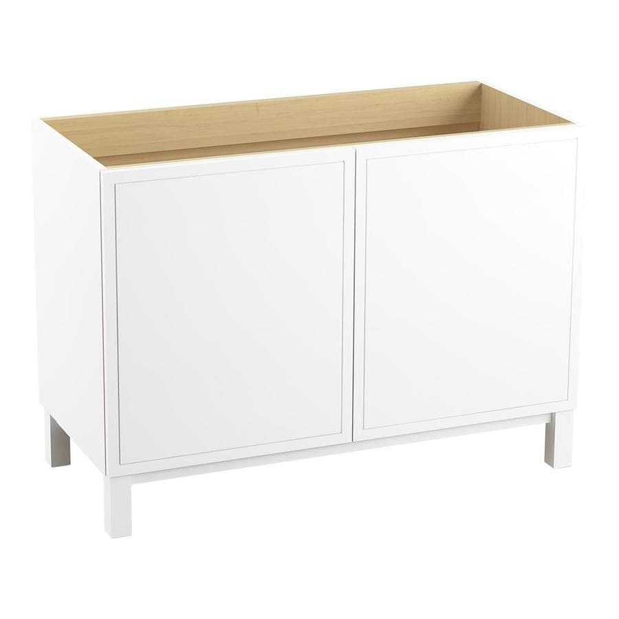 KOHLER Jacquard Linen White Bathroom Vanity (Common: 48-in x 22-in; Actual: 48-in x 21.87-in)