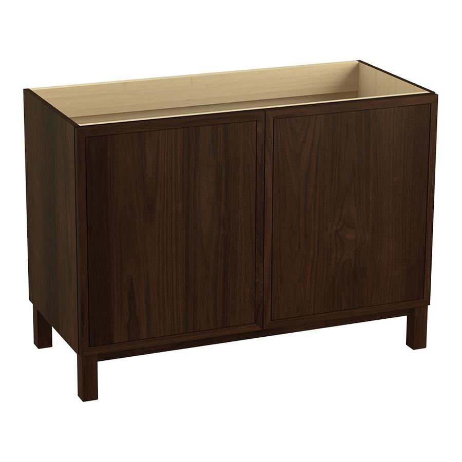 KOHLER Jacquard Ramie Walnut (Common: 48-in x 22-in) Traditional Bathroom Vanity (Actual: 48-in x 21.875-in)