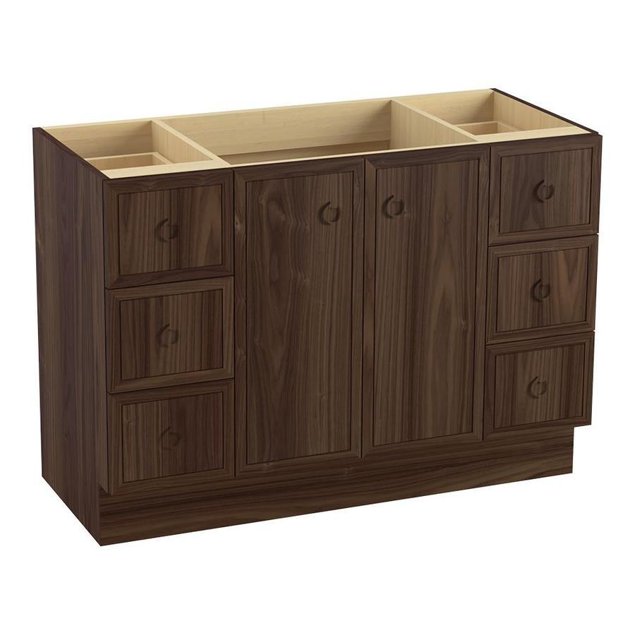 KOHLER Jacquard Terry Walnut (Common: 48-in x 22-in) Traditional Bathroom Vanity (Actual: 48-in x 21.875-in)
