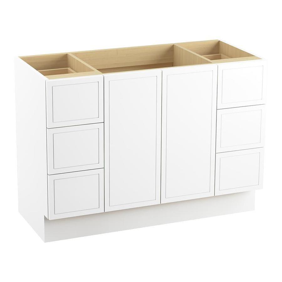KOHLER Jacquard Linen White Bathroom Vanity (Common: 48-in x 22-in; Actual: 48-in x 21.87-in)