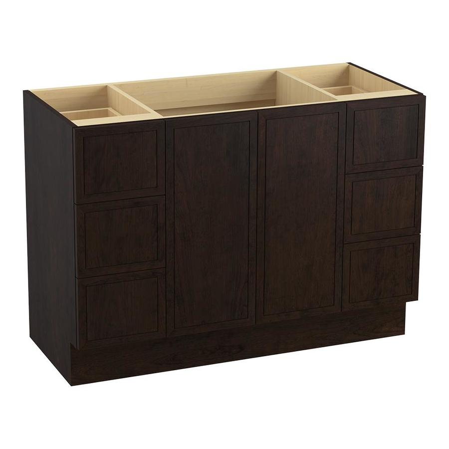 KOHLER Jacquard Claret Suede Bathroom Vanity (Common: 48-in x 22-in; Actual: 48-in x 21.87-in)