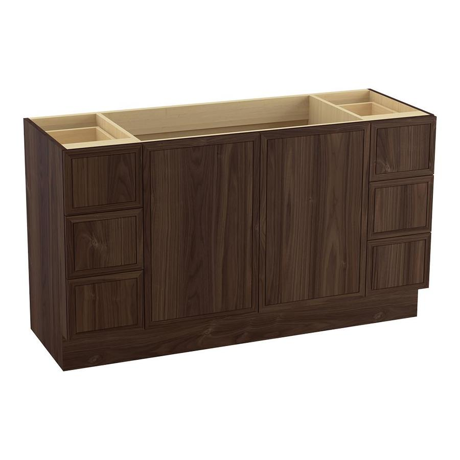 KOHLER Jacquard Terry Walnut 60-in Traditional Bathroom Vanity