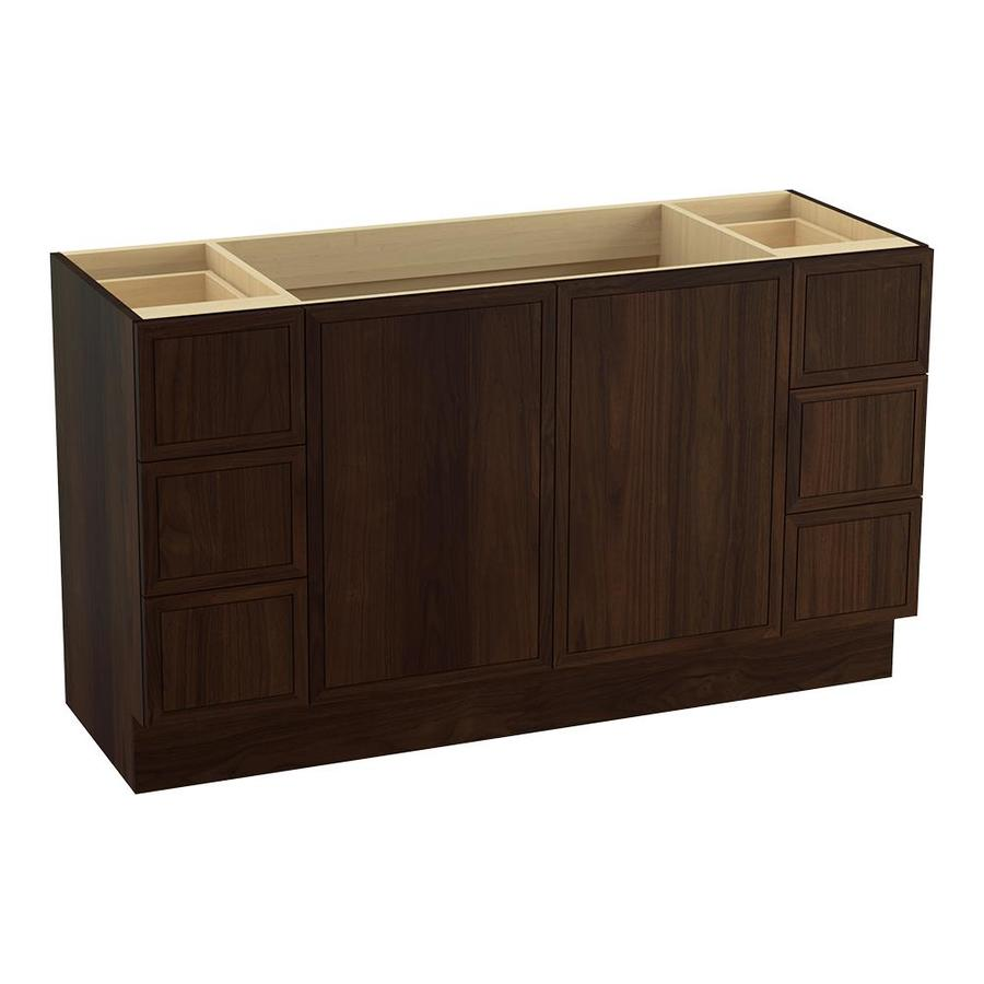 KOHLER Jacquard Ramie Walnut (Common: 60-in x 22-in) Traditional Bathroom Vanity (Actual: 60-in x 21.875-in)