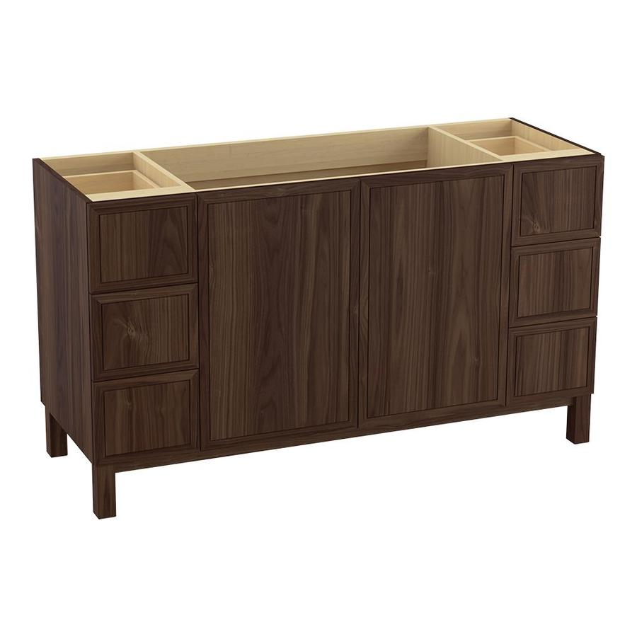 KOHLER Jacquard 60-in Terry Walnut Traditional Bathroom Vanity