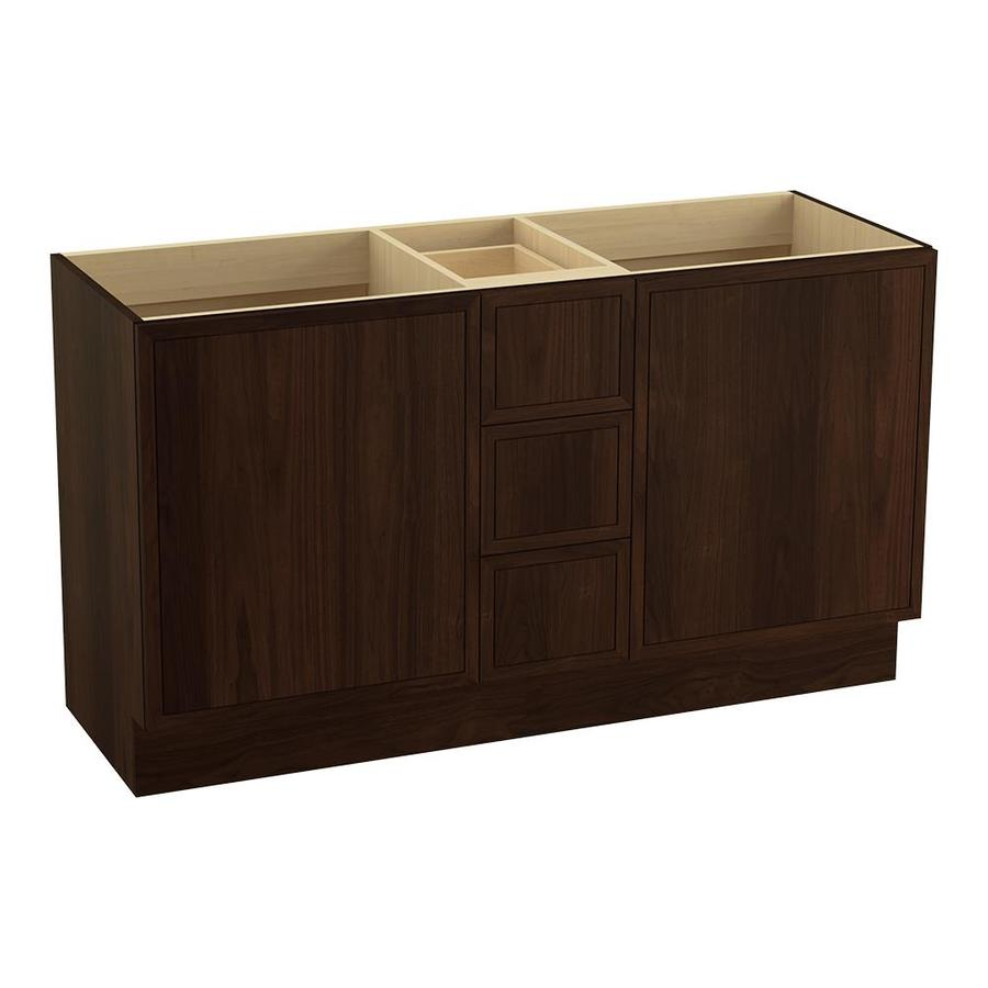KOHLER Jacquard Ramie Walnut Bathroom Vanity (Common: 60-in x 22-in; Actual: 60-in x 21.87-in)