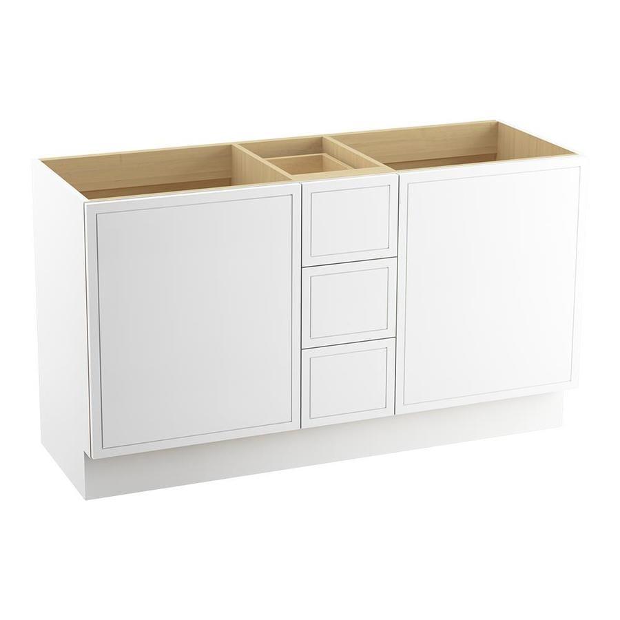 KOHLER Jacquard Linen White Bathroom Vanity (Common: 60-in x 22-in; Actual: 60-in x 21.87-in)