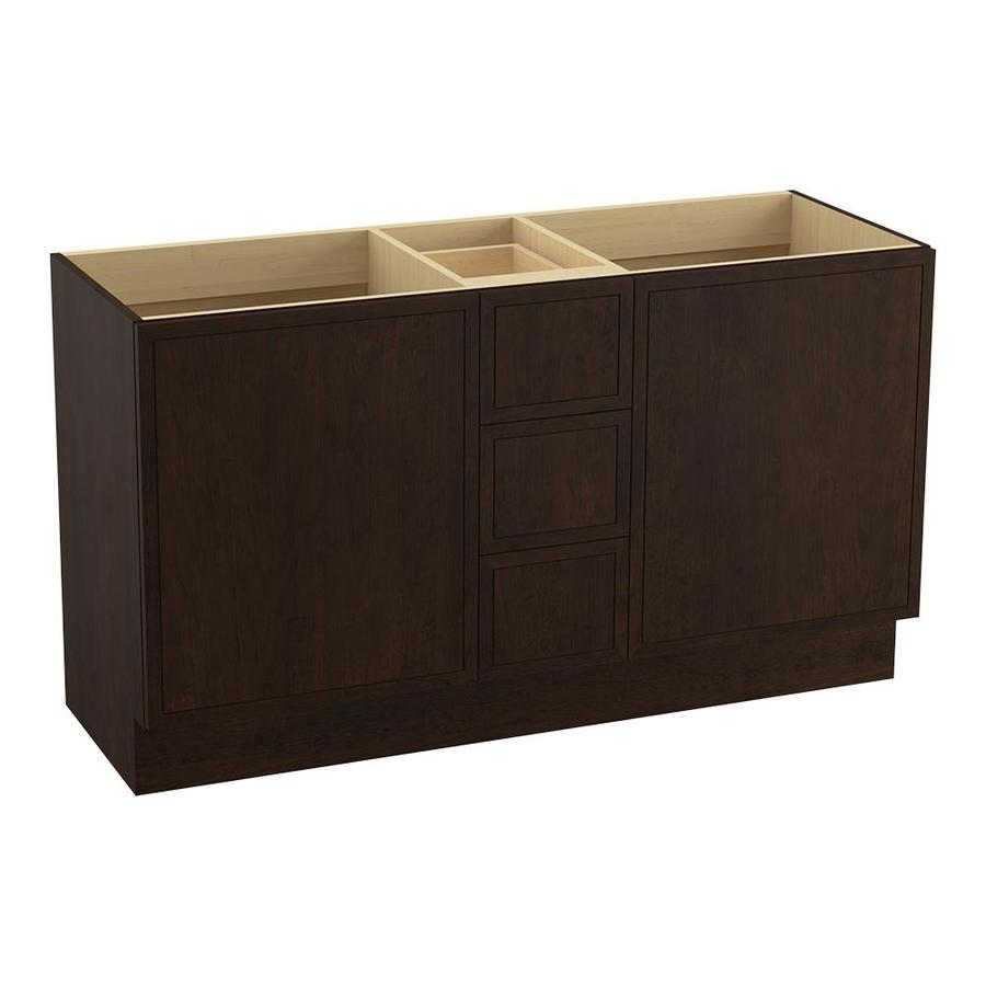 KOHLER Jacquard Claret Suede (Common: 60-in x 22-in) Traditional Bathroom Vanity (Actual: 60-in x 21.875-in)