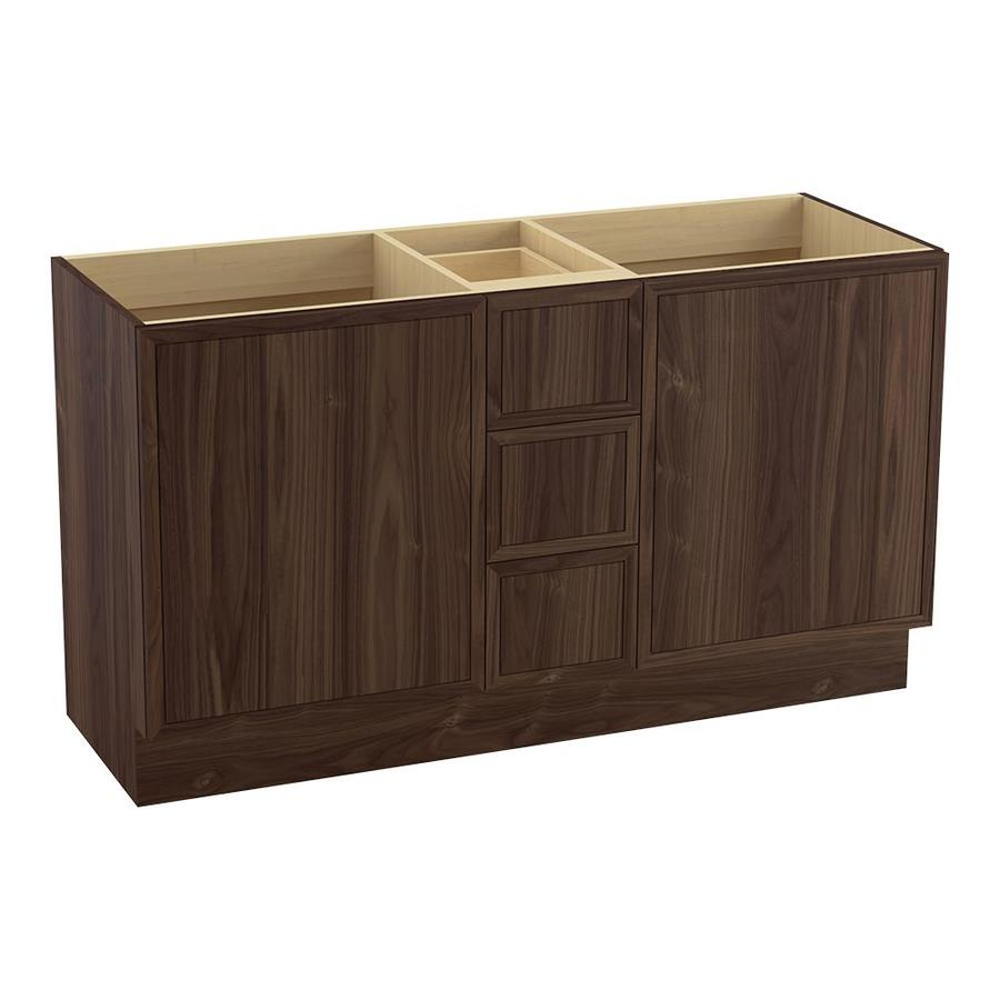 KOHLER Jacquard Terry Walnut Bathroom Vanity (Common: 60-in x 22-in; Actual: 60-in x 21.87-in)