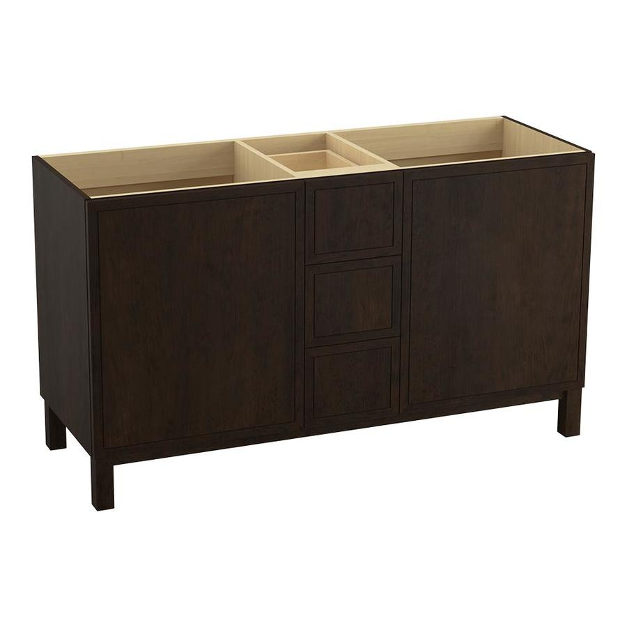 KOHLER Jacquard Claret Suede 60-in Traditional Bathroom Vanity