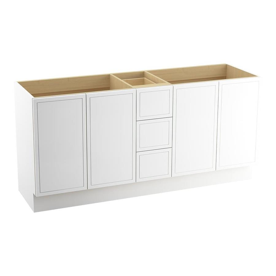 KOHLER Jacquard Linen White Bathroom Vanity (Common: 72-in x 22-in; Actual: 72-in x 21.87-in)