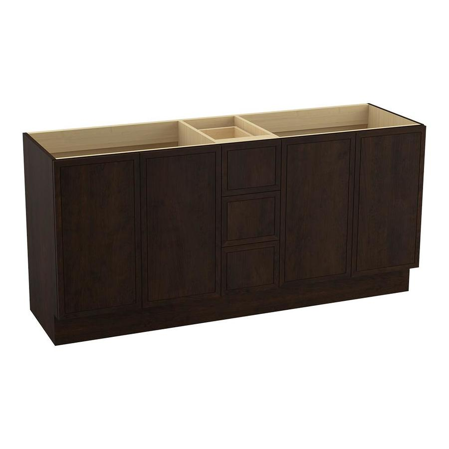 KOHLER Jacquard Claret Suede (Common: 72-in x 22-in) Traditional Bathroom Vanity (Actual: 72-in x 21.875-in)