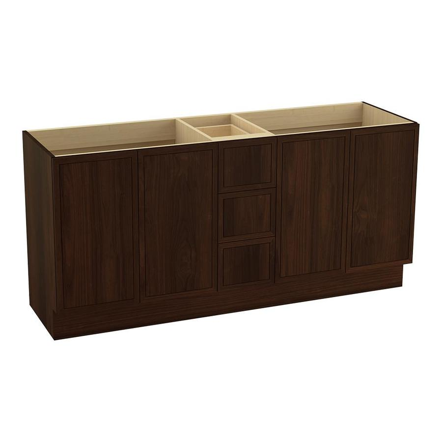 KOHLER Jacquard Ramie Walnut Bathroom Vanity (Common: 72-in x 22-in; Actual: 72-in x 21.87-in)