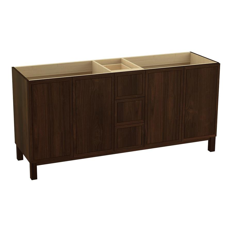 KOHLER Jacquard Ramie Walnut 72-in Traditional Bathroom Vanity
