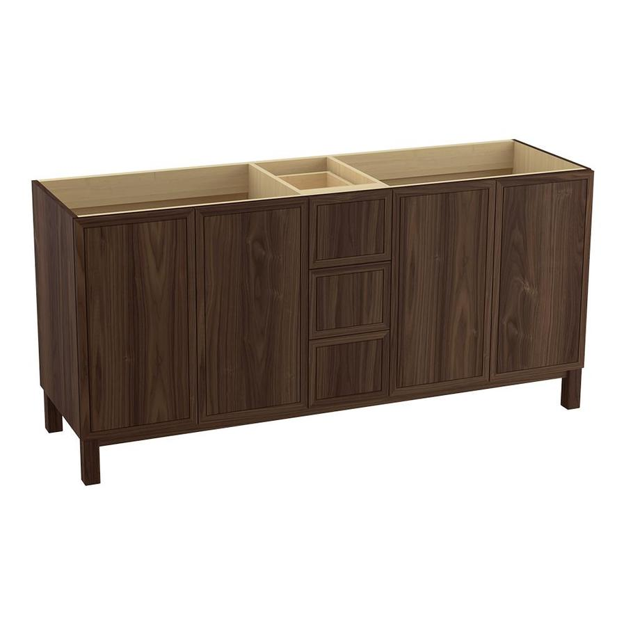 KOHLER Jacquard Terry Walnut Bathroom Vanity (Common: 72-in x 22-in; Actual: 72-in x 21.87-in)