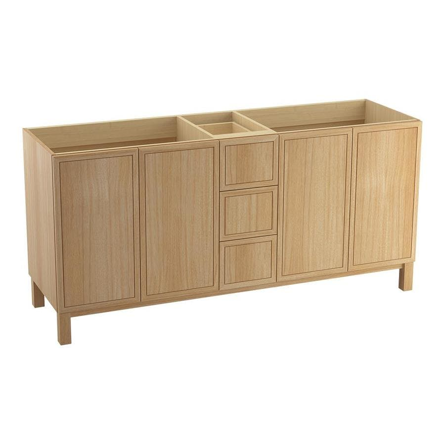 KOHLER Jacquard Khaki White Oak Bathroom Vanity (Common: 72-in x 22-in; Actual: 72-in x 21.87-in)