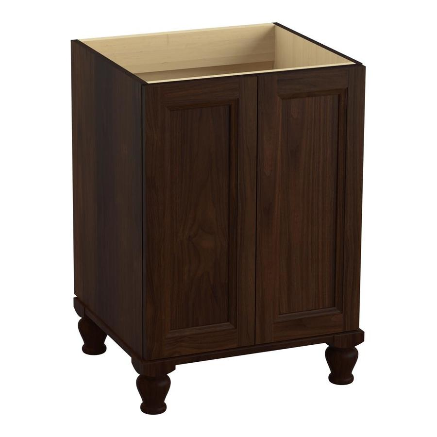 KOHLER Damask Ramie Walnut Bathroom Vanity (Common: 24-in x 22-in; Actual: 24-in x 21.87-in)