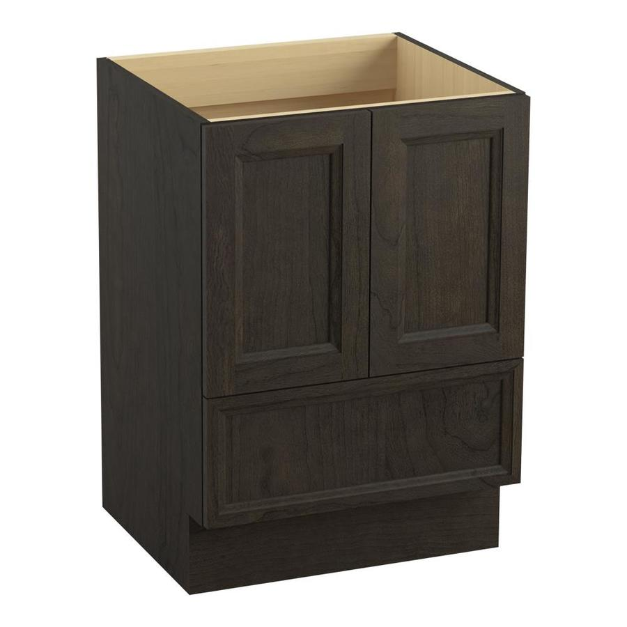 KOHLER Damask Felt Grey 24-in Traditional Bathroom Vanity