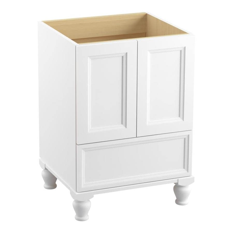 KOHLER Damask Linen White Bathroom Vanity (Common: 24-in x 22-in; Actual: 24-in x 21.87-in)