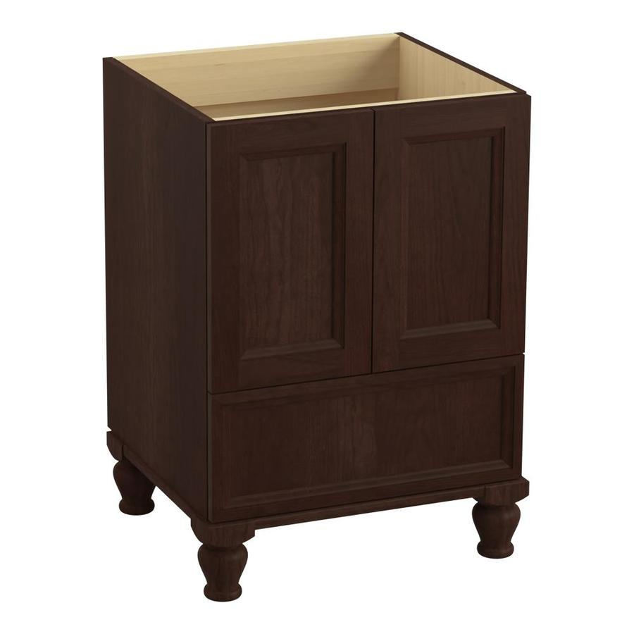 KOHLER Damask Cherry Tweed (Common: 24-in x 22-in) Traditional Bathroom Vanity (Actual: 24-in x 21.875-in)