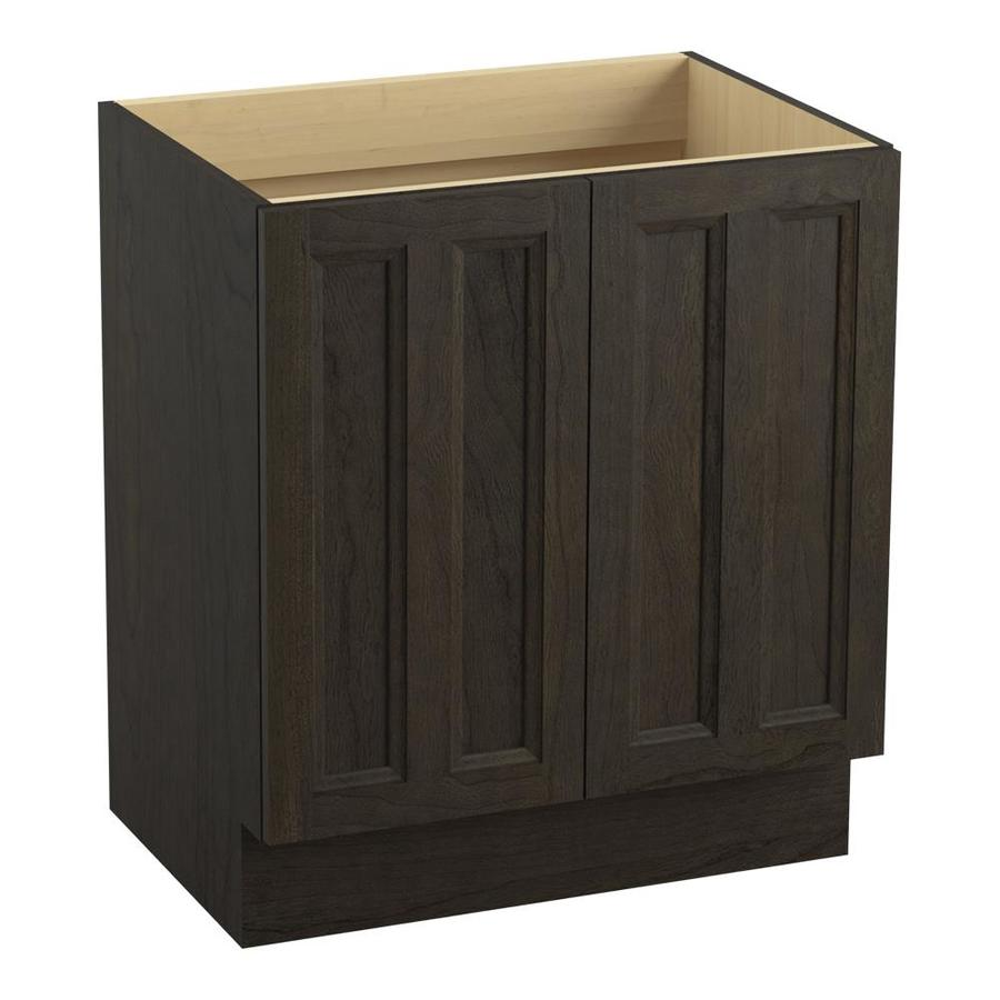 KOHLER Damask Felt Grey 30-in Traditional Bathroom Vanity