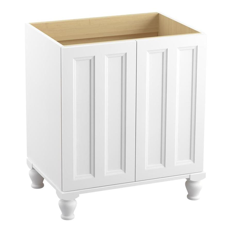KOHLER Damask Linen White (Common: 30-in x 22-in) Traditional Bathroom Vanity (Actual: 30-in x 21.875-in)