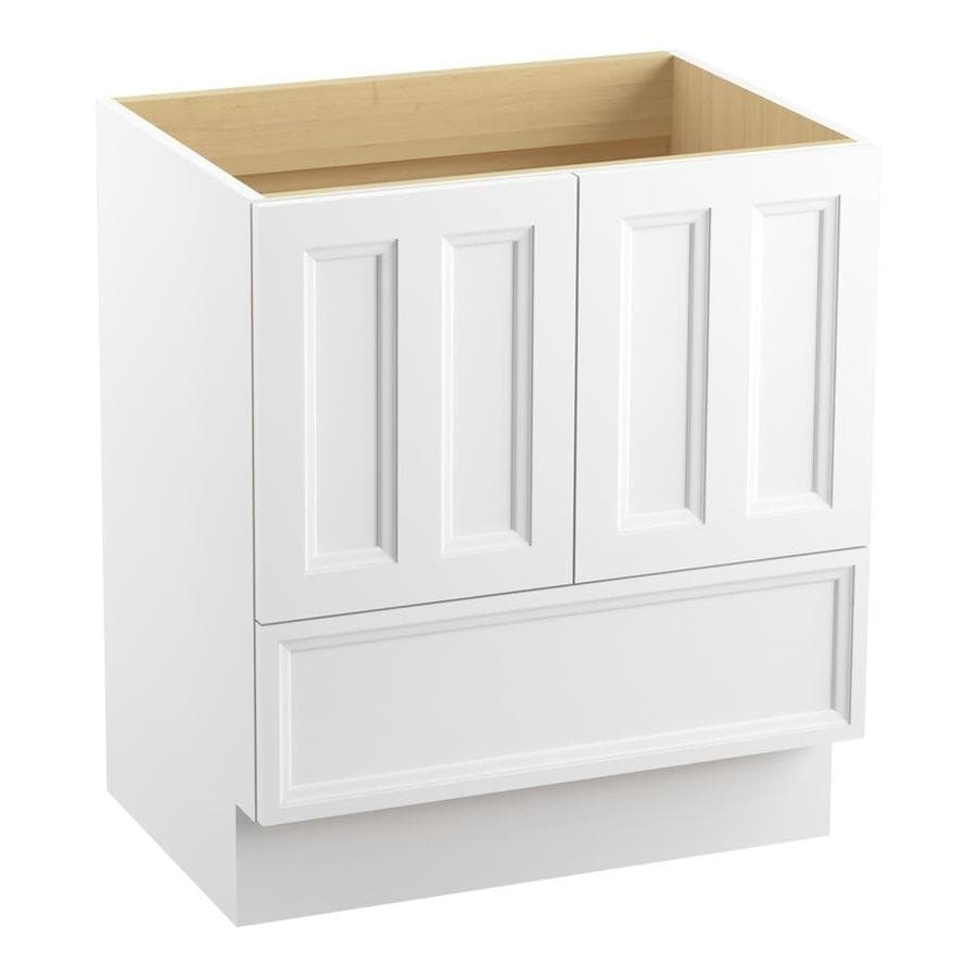 KOHLER Damask Linen White Bathroom Vanity (Common: 30-in x 22-in; Actual: 30-in x 21.87-in)