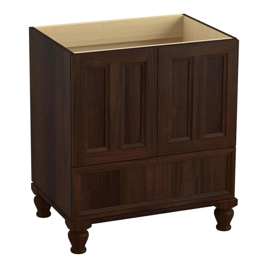 KOHLER Damask 30.0000-in Ramie Walnut Traditional Bathroom Vanity